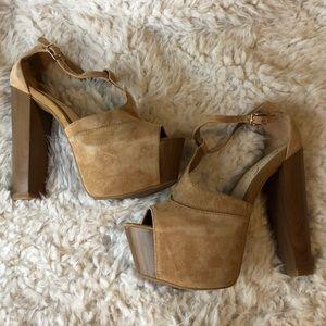 Suede Beige Jessica Simpson heels